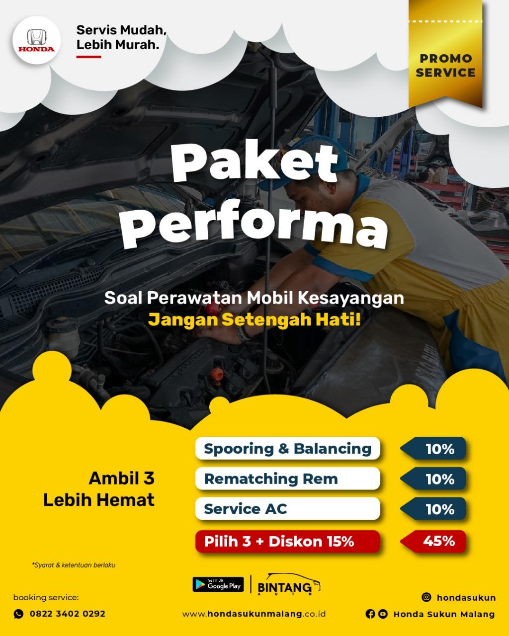 Paket Service Mobil Honda di Malang