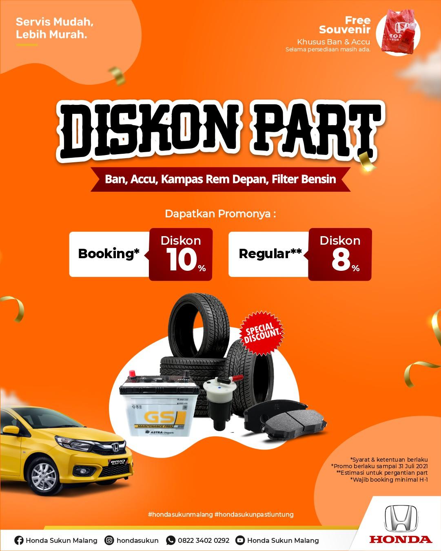 Promo Diskon Part Honda Malang