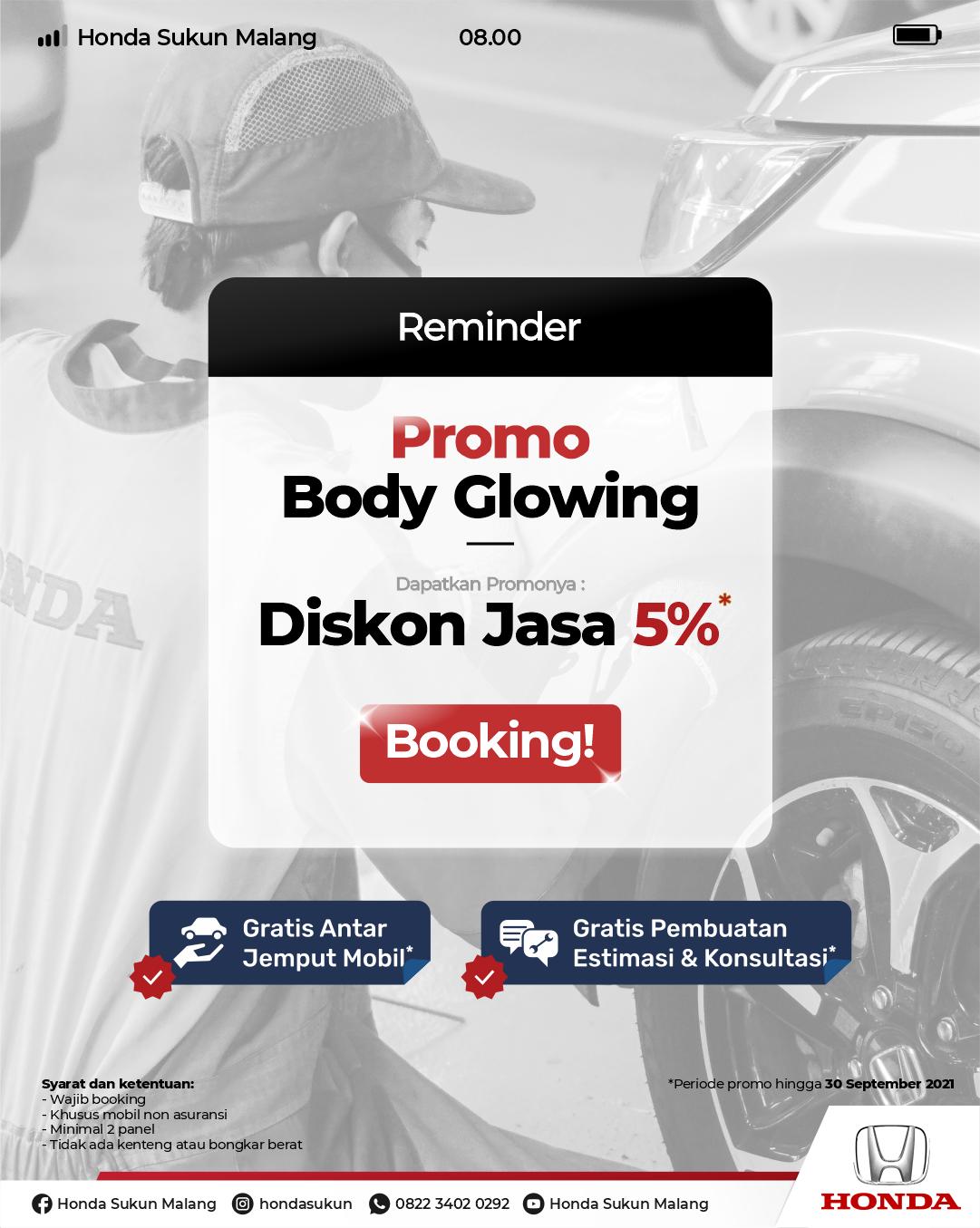 Promo Body Glowing Honda